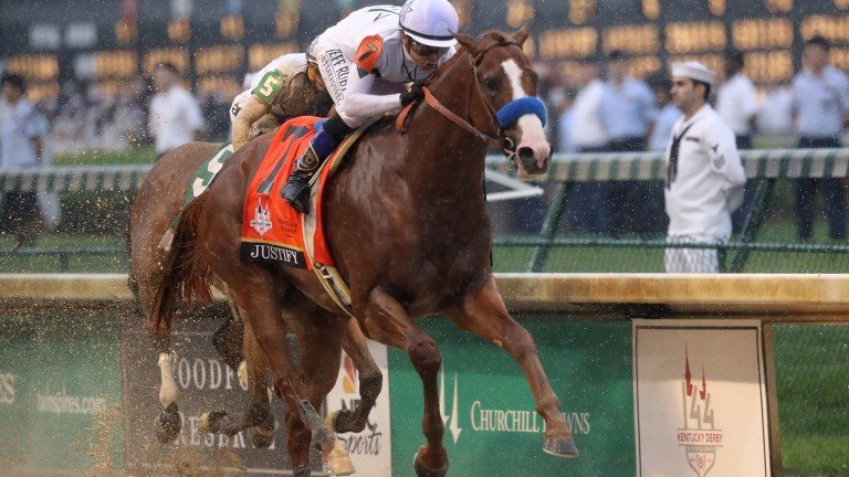 Fulfilling the hype: Justify powers home to win the Kentucky Derby under Mike Smith