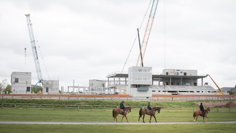 Work continues on the new stand at the Curragh