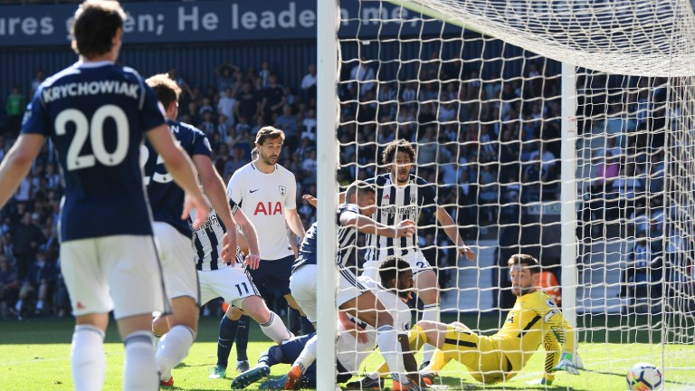 Jake Livermore scores West Brom's late winner against Spurs on Saturday