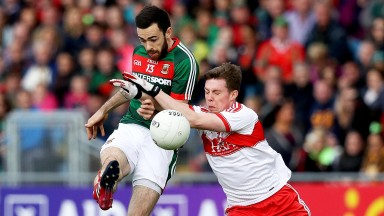 Kevin McLoughlin (left) had a terrific 2017 campaign for Mayo