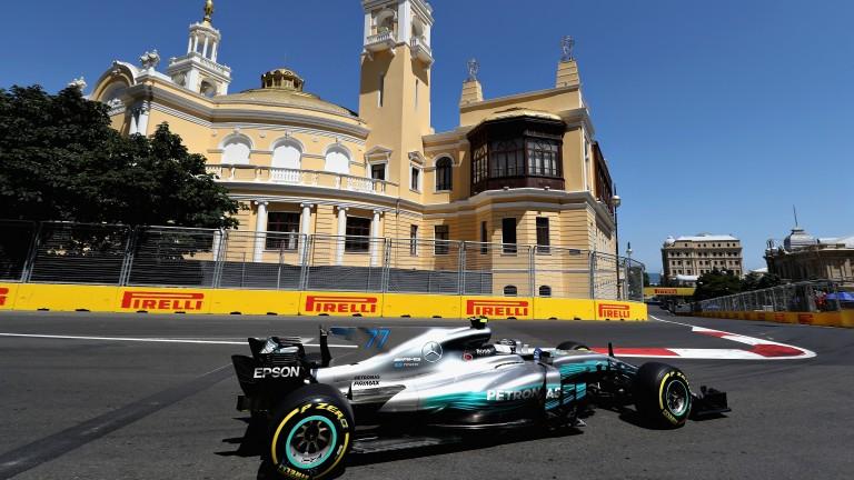 Valtteri Bottas suffered a puncture when leading the Azerbaijan Grand Prix