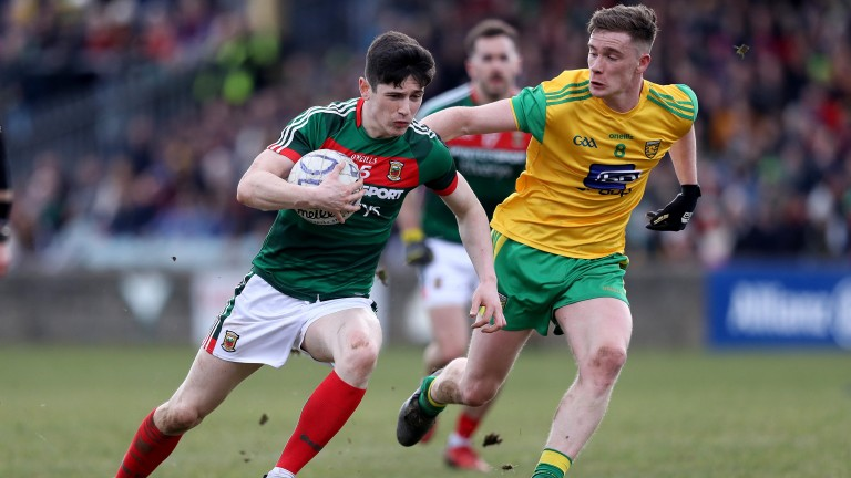 Mayo's Conor Loftus in action against Donegal