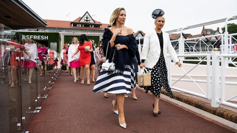 Fashion parade: plenty of fancy outfits were on show on the final day of the May meeting