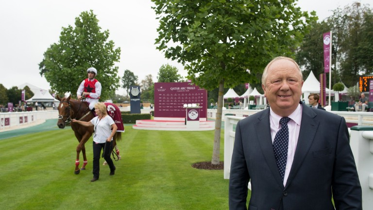 Trainer Ron Harris after Just Glamorous won the Prix du Petit Couvert at Chantilly in 2016