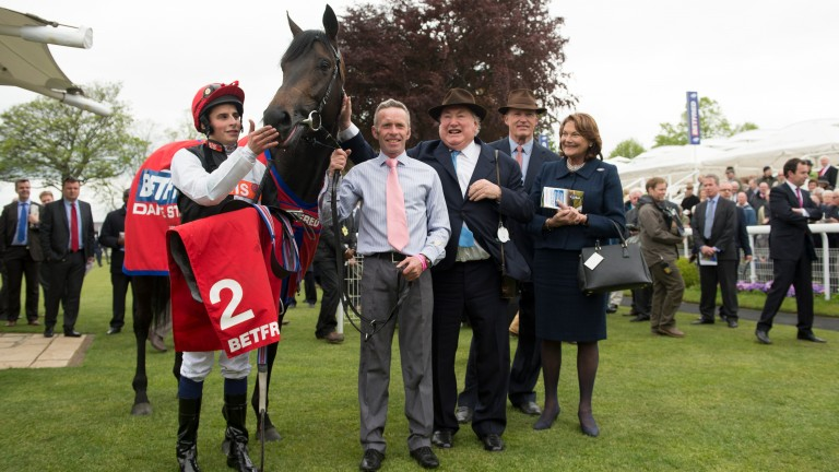 Smiles all round after Golden Horn's success in the Dante Stakes