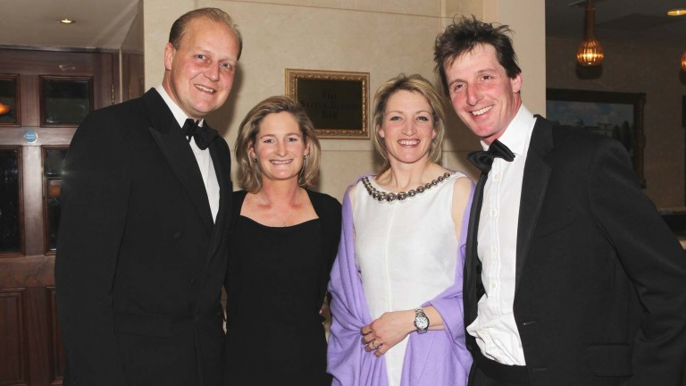 Horse racing: Hales (right) and his wife Zoe pictured with Ed and Rebecca Dunlop