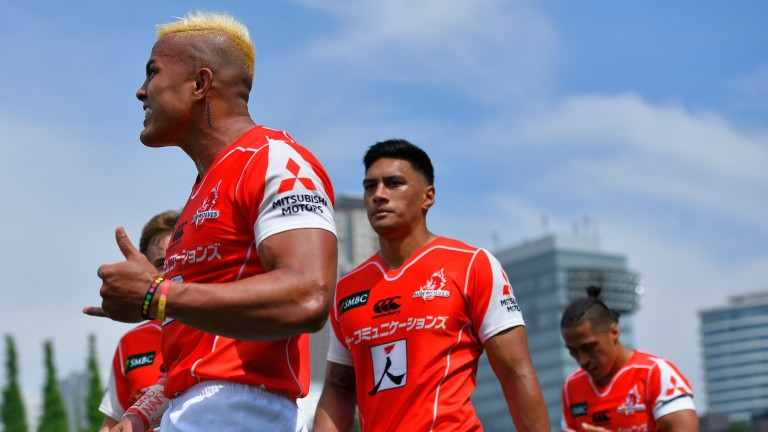 The Sunwolves celebrated a historic win over the Reds in round 13