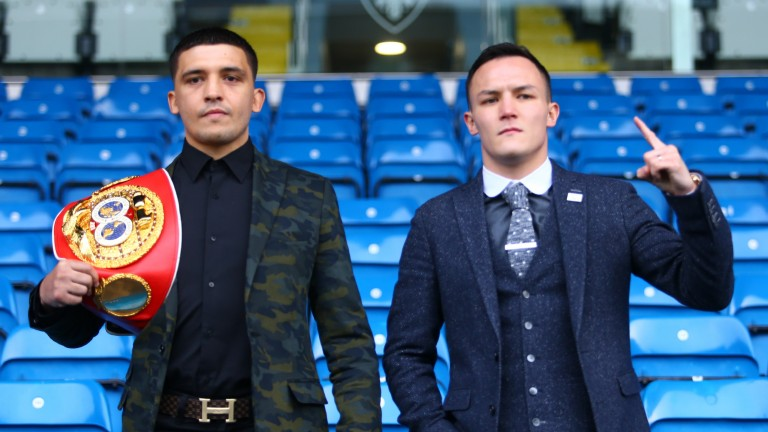 IBF world featherweight champion Lee Selby (left) and challenger Josh Warrington