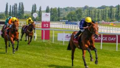 Crystal Ocean powers clear under Ryan Moore for a convincing win