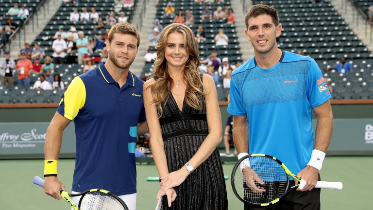 Federico Delbonis (right) could navigate a path through a host of tough opponents in Lyon