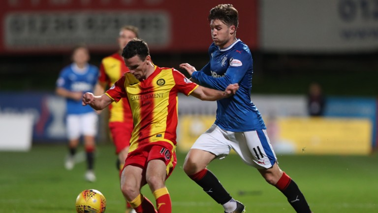 Partick's Paul McGinn (left) will be hoping to help his side secure their Premiership future