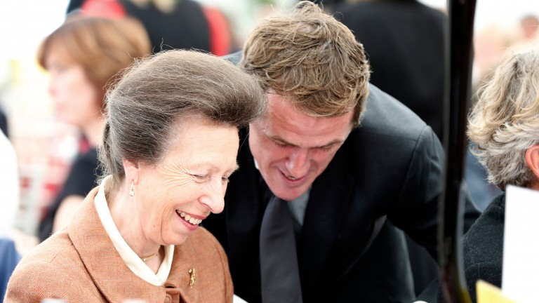 The princess shares a joke with Sir Anthony McCoy at the Doncaster Legends lunch in 2015