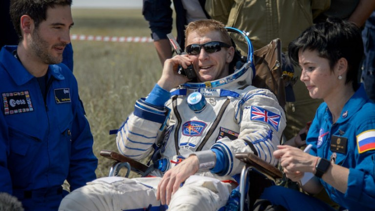 "Tim Peake: the British astronaut was put in a wheelchair on his return from space ""because bone density in the long bones of a mature skeleton disappears very quickly"""