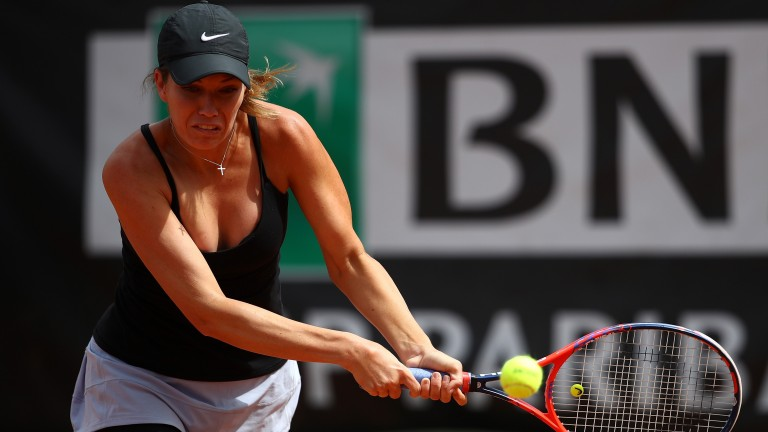 Danielle Collins battles hard on clay in Rome last week