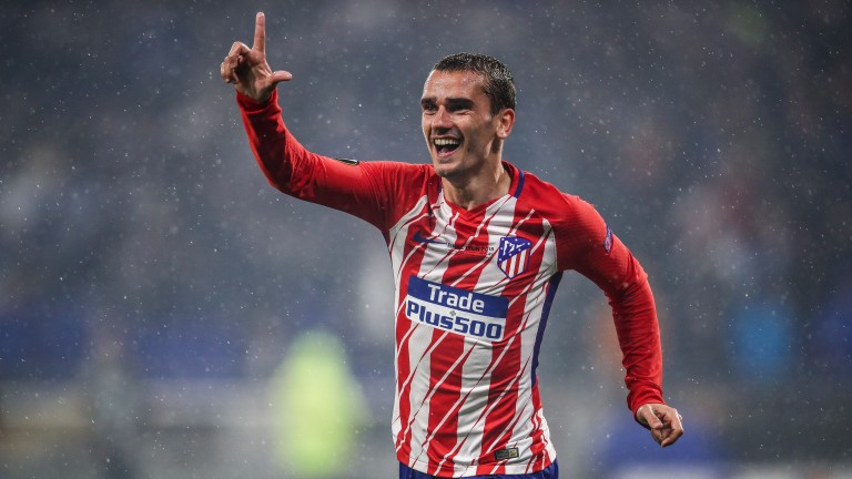 Antoine Griezmann leads the Atletico Madrid line
