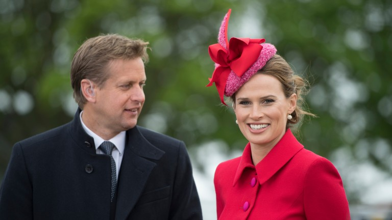 Francesca Cumani with fellow ITV Racing presenter Ed Chamberlin