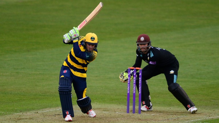 Glamorgan captain Colin Ingram on the drive against Surrey last year