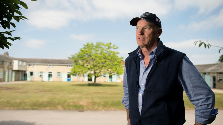 John Gosden in the main yard at Clarehaven StablesNewmarket 16.7.15 Pic: Edward Whitaker
