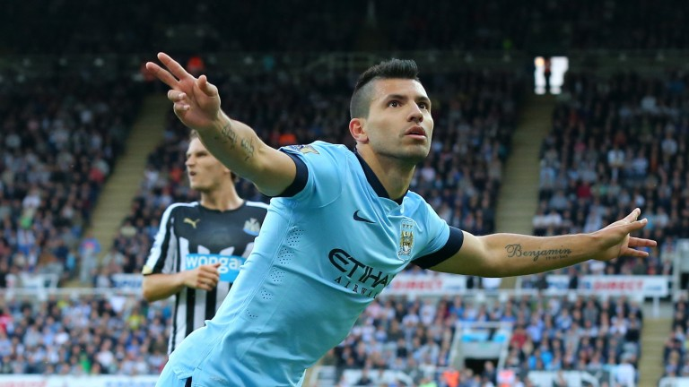 Sergio Aguero of Manchester City: scored crucial goal to clinch the title in 2012