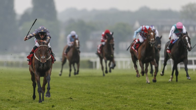 Magic Circle and Fran Berry storm clear of their rivals in the Henry II Stakes