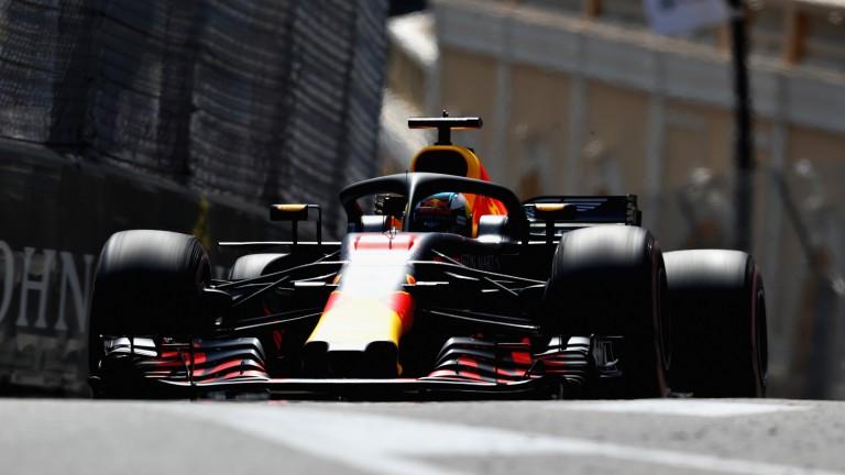 Daniel Ricciardo negotiates his way between the Monaco barriers