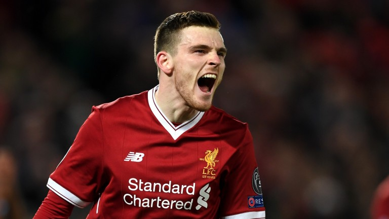 Andy Robertson of Liverpool