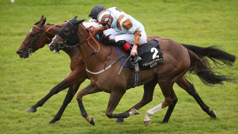 Caspian Prince (near) gets the better of Marsha at the Curragh last year