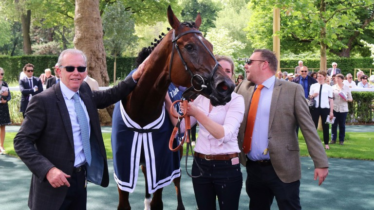 Laurens was twice successful for trainer Karl Burke (left) and owner John Dance (right) in France earlier this season