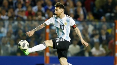 Lionel Messi carries the hopes his nation Argentina