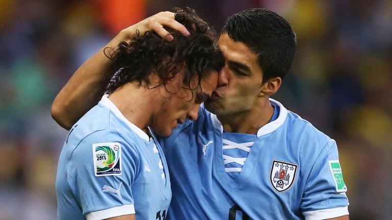 Edinson Cavani (left) and Luis Suarez form a formidable partnership for Uruguay