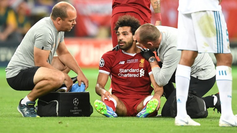 Mo Salah suffered a shoulder injury in the Champions League final