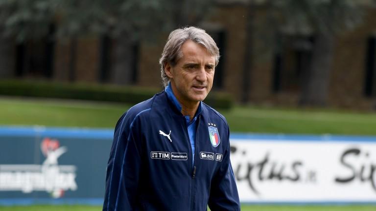 Italy head coach Roberto Mancini