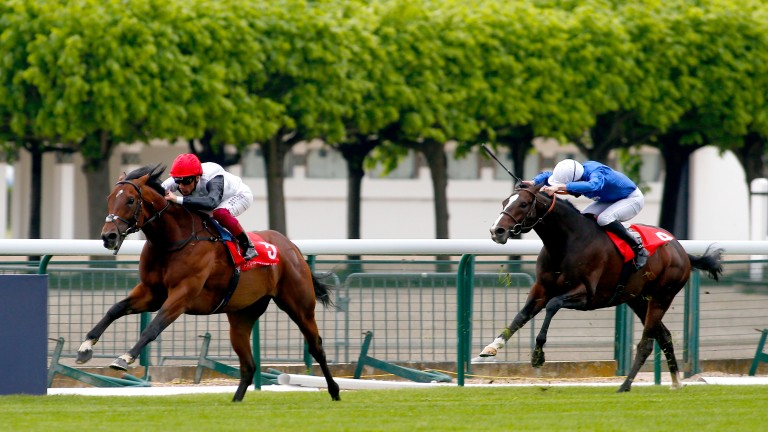Cracksman and Frankie Dettori power home in the Prix Ganay