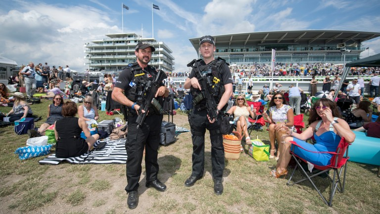 Armed police officers will be on duty at Epsom