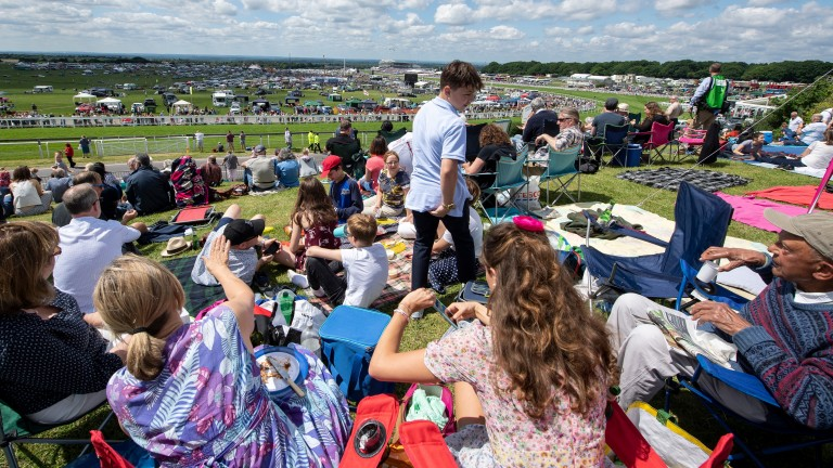Derby day at Epsom: police reported no serious trouble over the two-day meeting