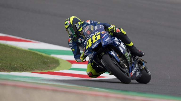 Valentino Rossi in action at Mugello