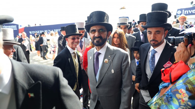 Sheikh Mohammed is all smiles after Masar's triumph