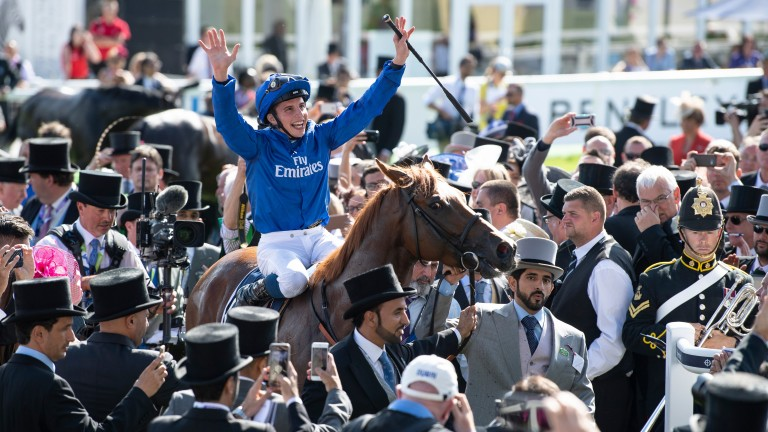 William Buick and Masar after winning the Derby