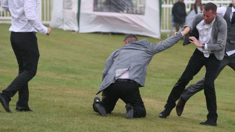 Fighting breaks out at the end of racing at Hexham