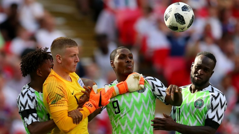 England goalkeeper Jordan Pickford had a solid game against Nigeria