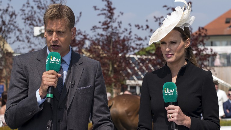 Ed Chamberlin and co-presenter Francesca Cumani, seen here at Chester