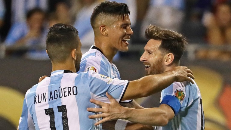Messi and Aguero form a potent attack for Argentina