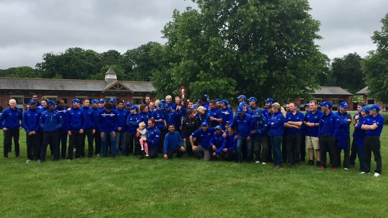 Team Masar: the Godolphin army at Moulton Paddocks with the Derby winner