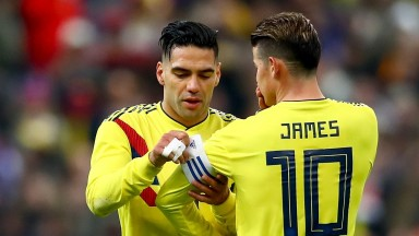 Colombia's Radamel Falcao and James Rodriguez will take some stopping