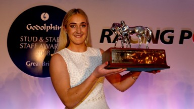 Jessica McLernon, assistant trainer to Richard Fahey and GSSSA employee of the year