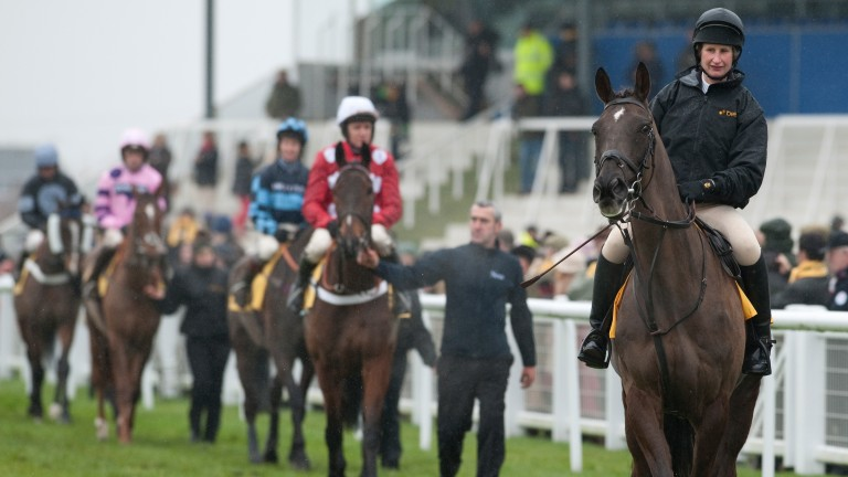 Denman and Charlotte Alexander lead the field for the Denman Chase at Newbury in 2013