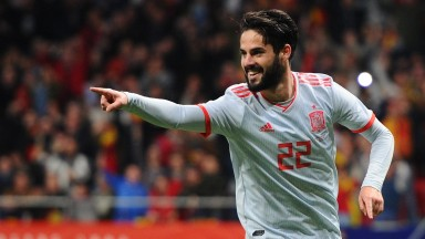 Isco bagged a hat-trick for Spain against Argentina