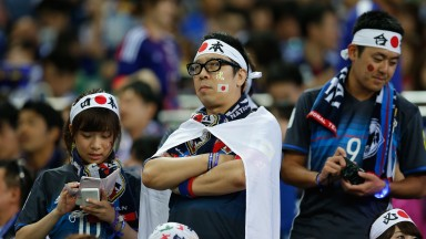 Grumpy Japanese supporters