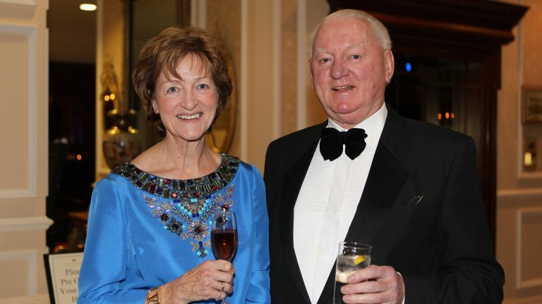 Frank Barry with wife Liz at the ITBA awards of 2012, where he was honoured with the lifetime achievement prize