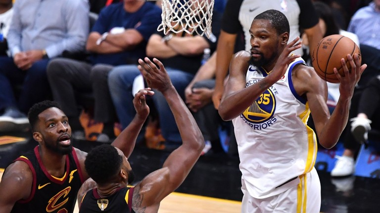 Golden State's Kevin Durant was in great form in Game Three